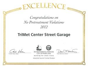 2012 Wastewater Award