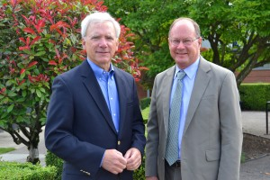 Director of the Bureau of Environmental Services Dean Marriott (left) and TriMet General Manager Neil McFarlane