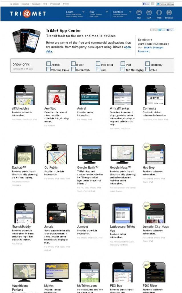 TriMet App Center