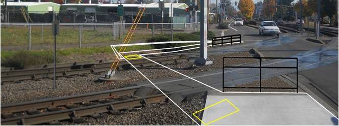 Conceptual design of the 97th and E. Burnside pedestrian crossing safety improvements