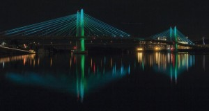 Next phase of aesthetic lighting testing on the Tilikum Crossing, Bridge of the People takes place starting Thursday night