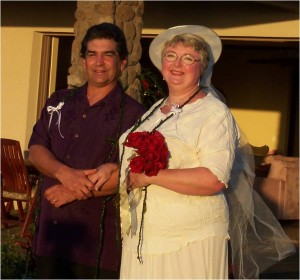 Steve and Roberta McHatton celebrating their 10th wedding anniversary in Maui on December 23, 2006.