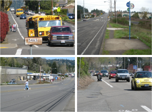 Examples of challenges pedestrians and transit riders face throughout the region (Click photo to enlarge)
