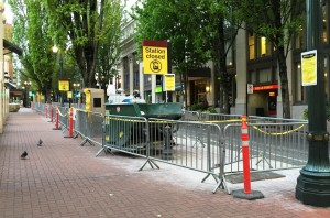The Pioneer Square North station was one of 9 stations to close during e-fare construction due to tightness and crowds.