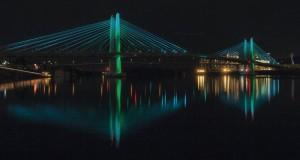 The aesthetic lighting on Tilikum Crossing
