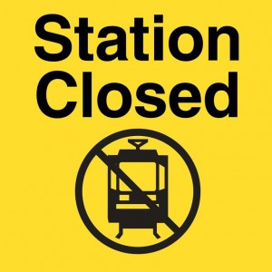 Library/SW 9th Ave Station is just one of about 10 that are closed during e-fare construction due to limited space and heavy use.