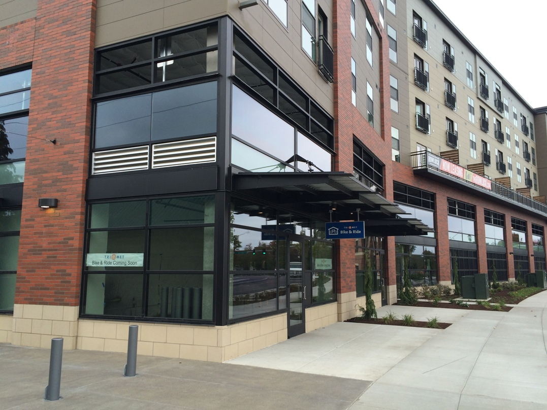 Work is near completion on TriMet's Orenco Bike & Ride facility, which opens soon, date announced soon.