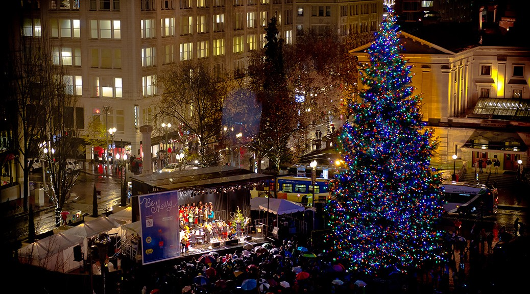 Tree Lighting at Pioneer Courthouse Square - Take TriMet To Ring In Holiday Cheer At Portland's Tree Lighting