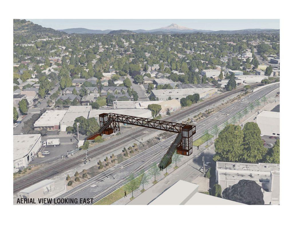 Conceptual rendering of the Gideon overpass