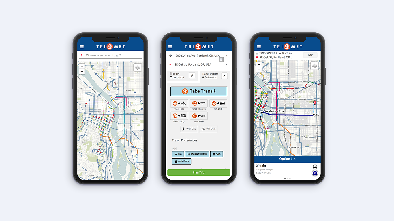 TriMet tests a new trip planner that brings together transit, ridesourcing, carsharing and bikesharing options